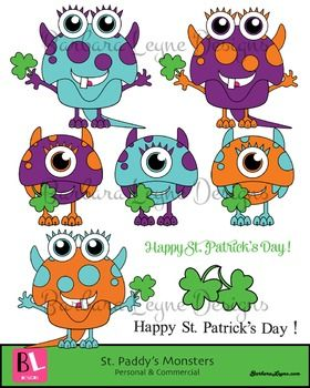 Monster clipart st patricks day Monsters images best Clipart Monsters