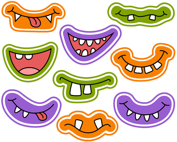 Halloween clipart photo booth Clipart Halloween Digital Grins mostro