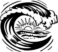 Monster Waves clipart black and white Waves Panda Google Clipart drawing