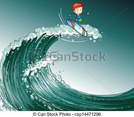 Monster Waves clipart wave shape Vagues Vecteur Illustrations Garçon d