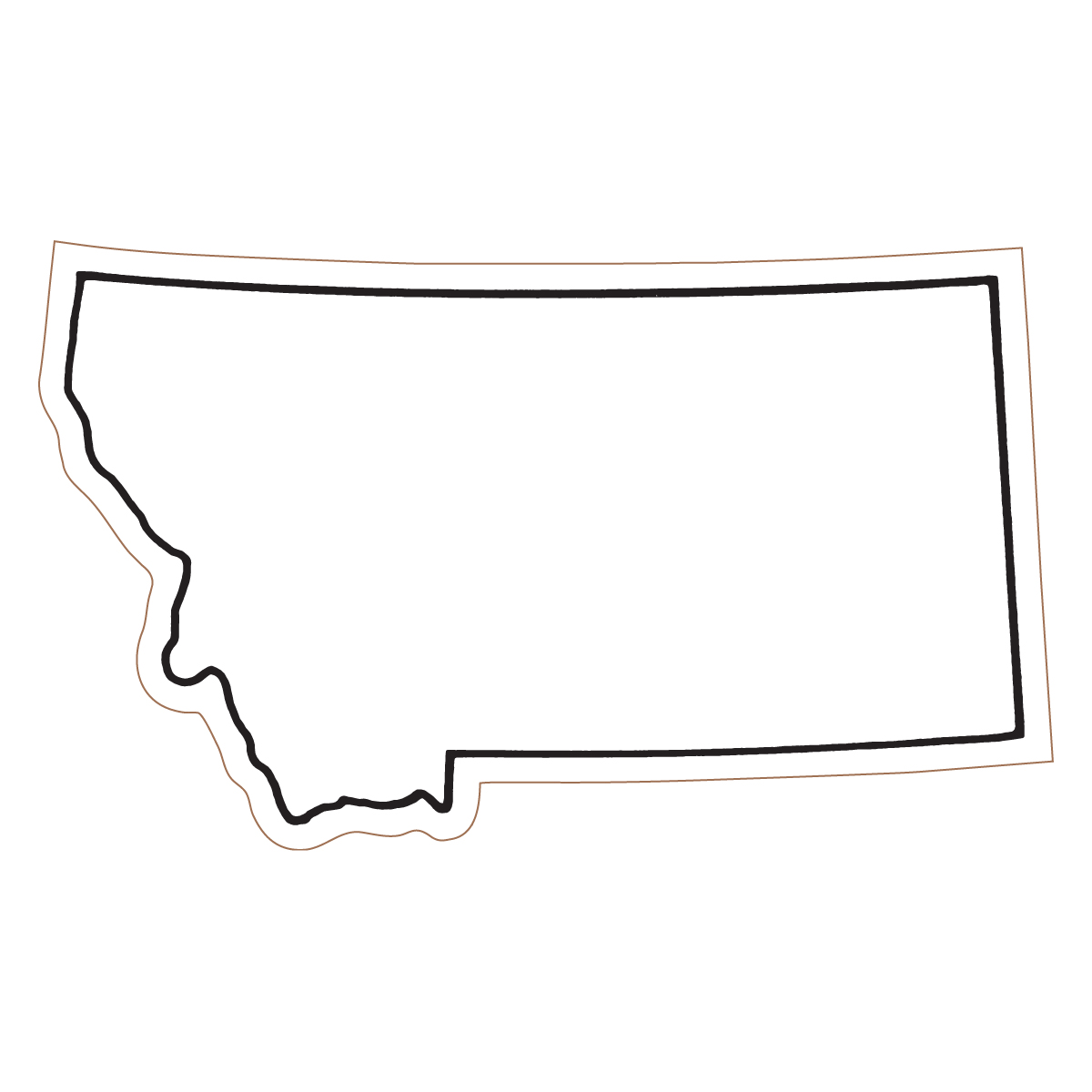 Montana clipart Outline outline Clipart Clipart states