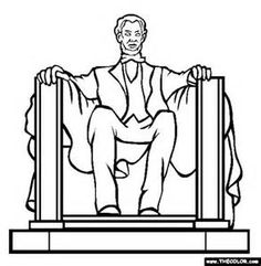 Monument clipart abraham lincoln Pages Of Lincoln of coloring