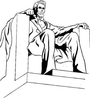 Monument clipart abraham lincoln Coloring Page  Assasination Statue