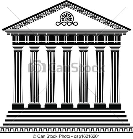 Parthenon clipart black and white Stencil stencil csp16216201 of second