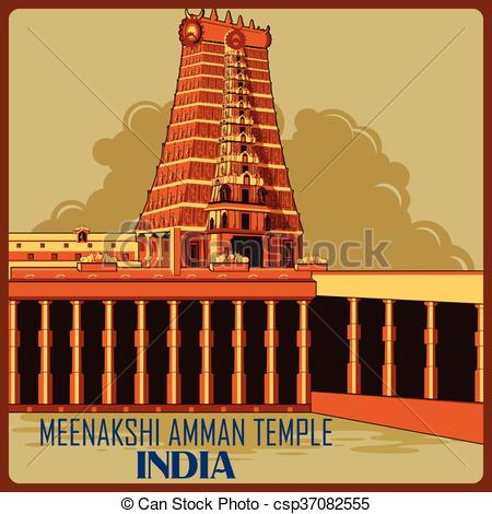 Monument clipart world famous place Temple Vector India poster monument