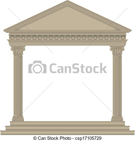Temple clipart roman temple Roman/Greek Vector Temple csp17105729 with