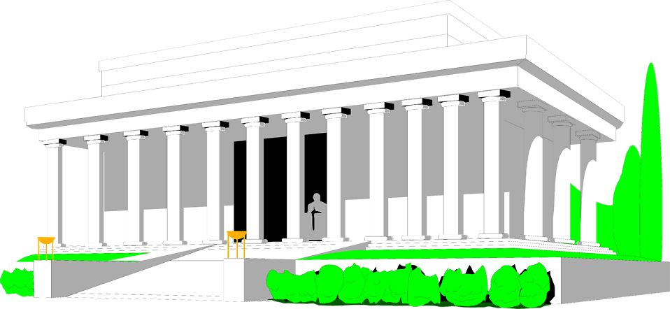 Building clipart lincoln memorial The in of Photo Lincoln