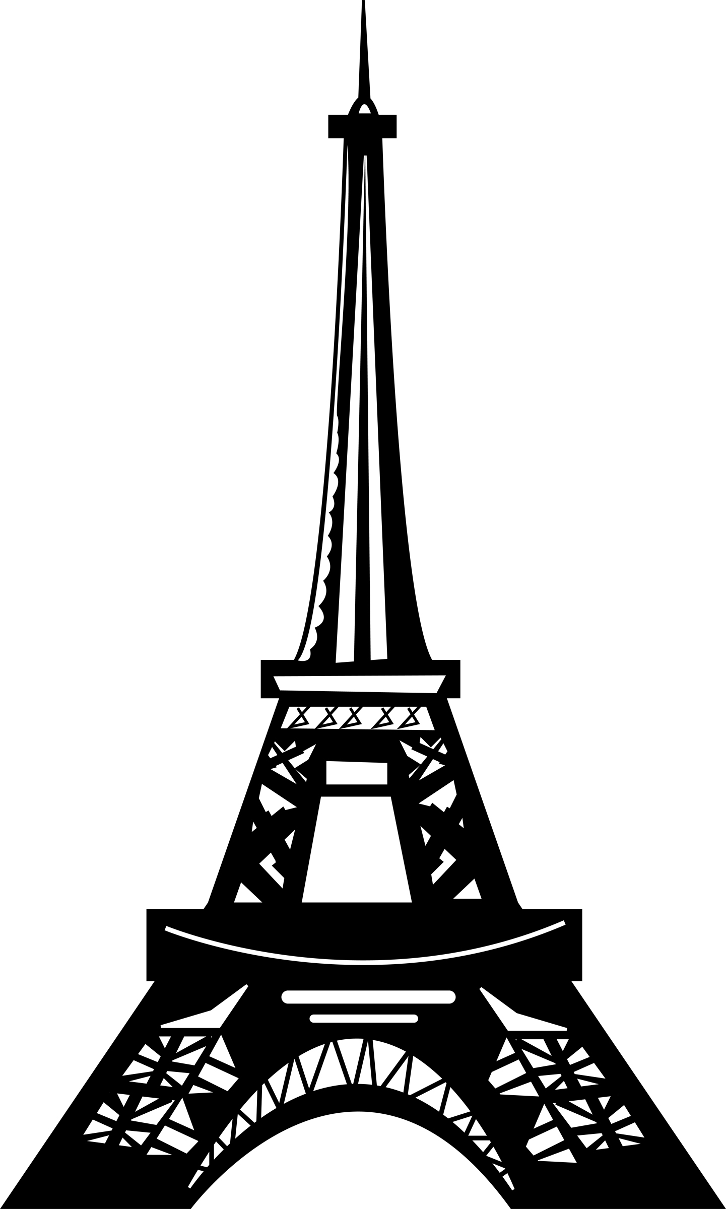 Eiffel Tower clipart silhouette Clipart Inspiration White and Paris