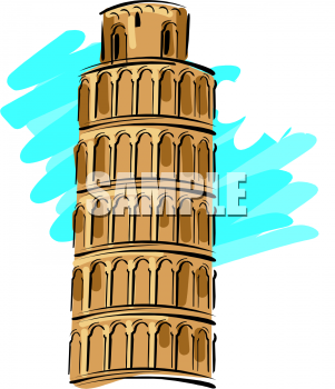 Tower clipart pisa tower #7