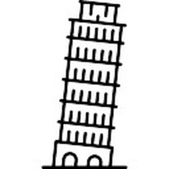 Structure clipart leaning tower Pisa of Free Tower Leaning