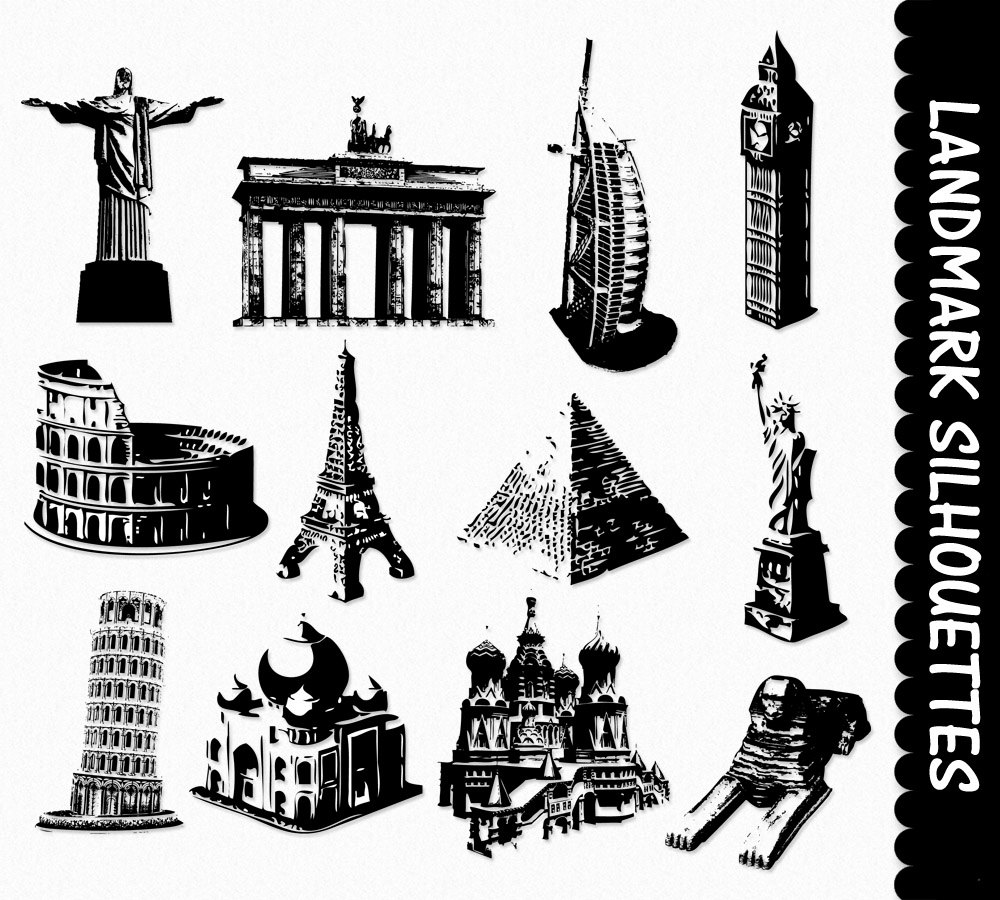 Famous Tower Art Scrapbook Places