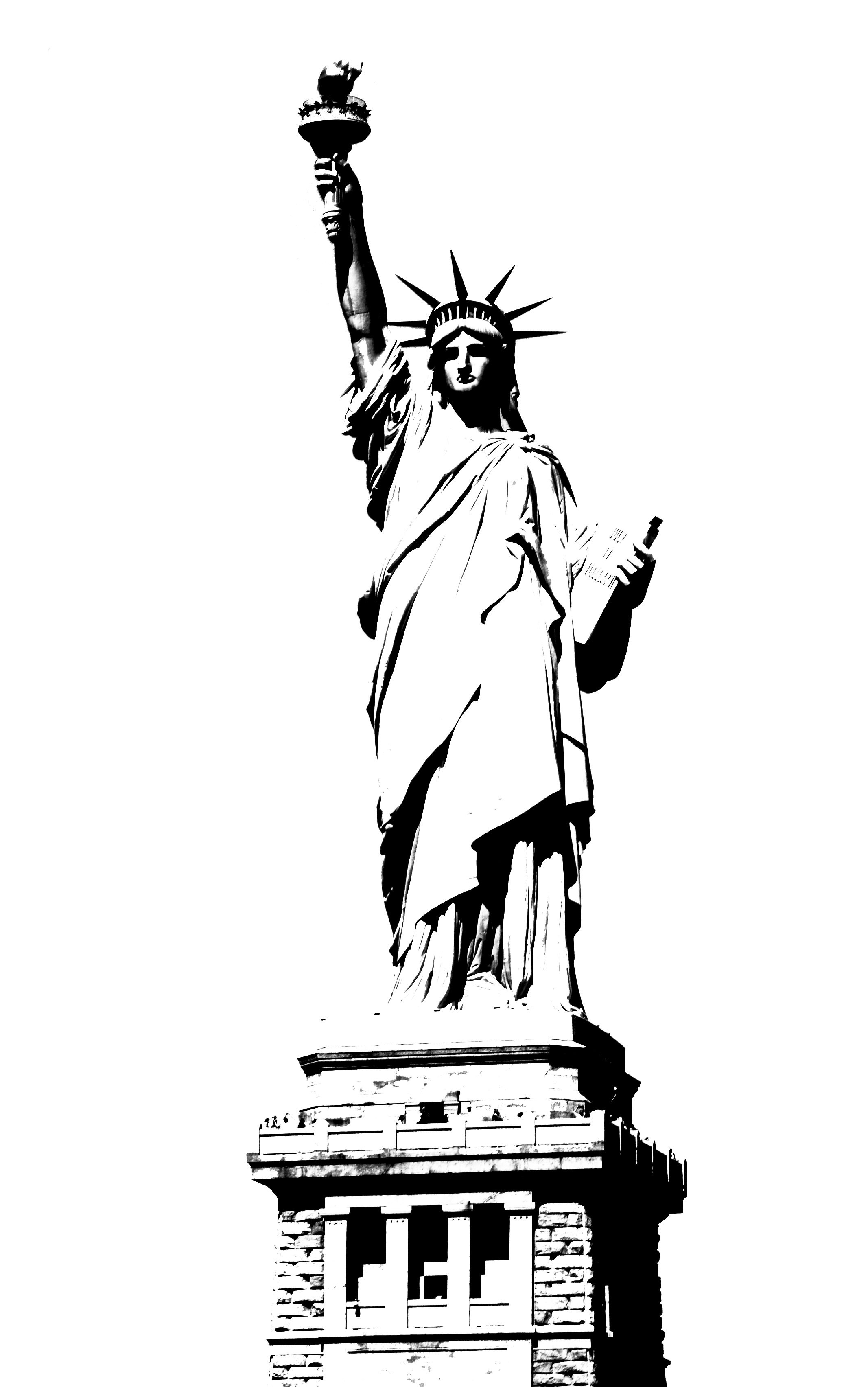 Drawn statue of liberty outline 42 Cliparting Free Of Liberty