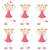Mood clipart Different Mood GoGraph Girl Clip