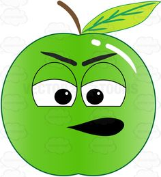 Mood clipart emoji Clipart Apple Sulking Green Bad