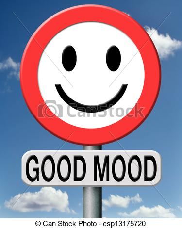 Mood clipart happy Illustration side Art sunny Good