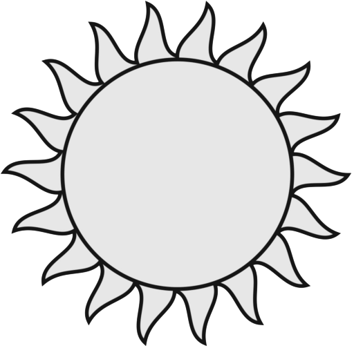 White clipart sunblack Black sun And Clipart collection