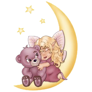 Moon clipart angel Animal Baby On Cute And