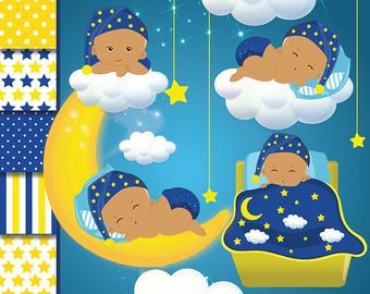Moon clipart baby shower Clipart clipart girl clipart star