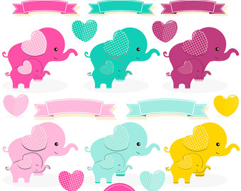 Moon clipart baby shower Clipart elephant clipart Moon baby