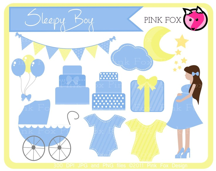 Moon clipart baby shower Moon shower Free Free BOY