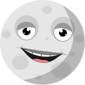 Moon clipart clear background #10
