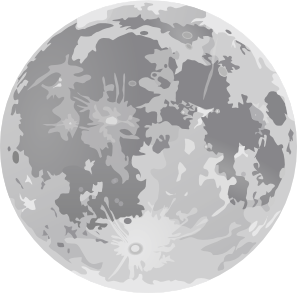 Moon clipart clear background #5