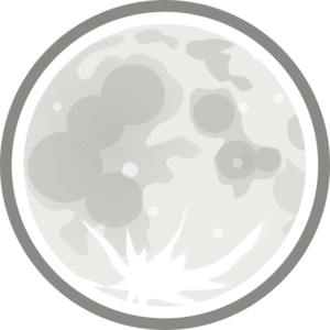 Moon clipart clear background #14