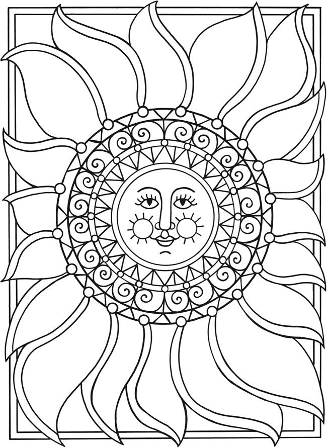 Moon clipart coloring book #9