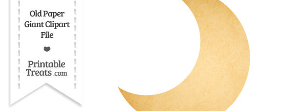 Moon clipart cresent moon Paper Crescent — Clipart Giant