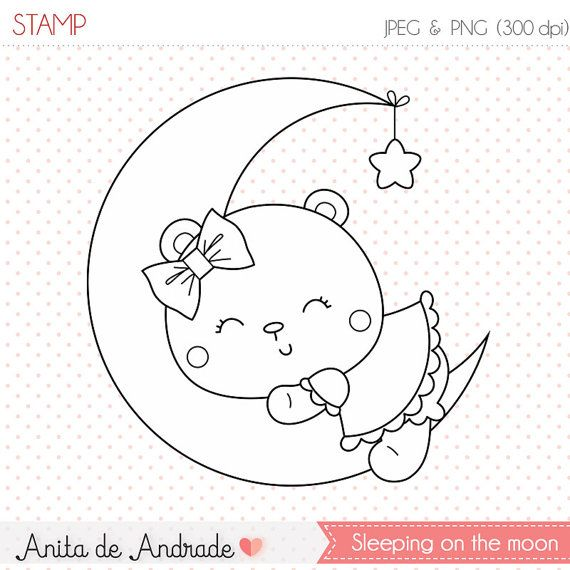 Moon clipart dormir Pinterest time on and sweet