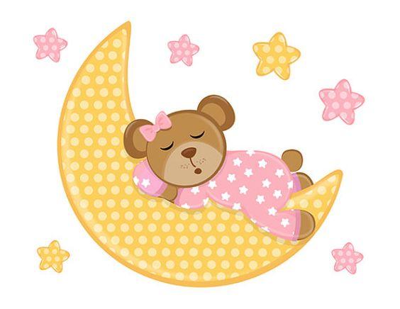 Moon clipart dormir  A Teddy for moon