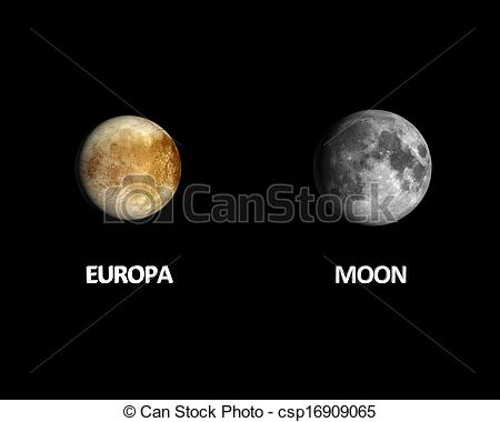 Moon clipart europa Download Earth Moon size size