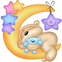 Teddy clipart sleepy  · Fizzy stamps Digi