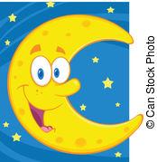 Moon clipart happy #8