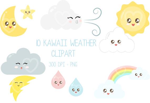 Clouds clipart kawaii Download Birhday Spring Cute Sun