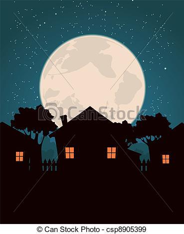 Moonlight clipart The EPS Moonlight Homes Homes