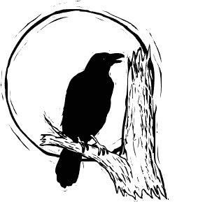 Moonlight clipart Clipart Raven Clipart Art Clipart