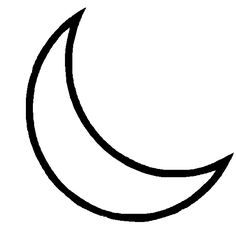 Moon clipart outline #6