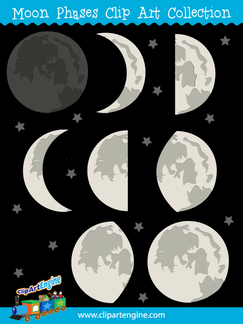 Moon clipart phase the moon #9