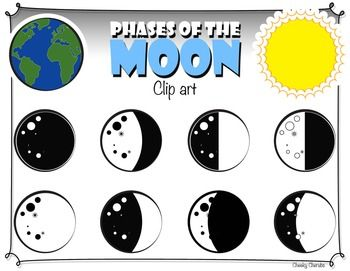 Moon clipart phase the moon #7