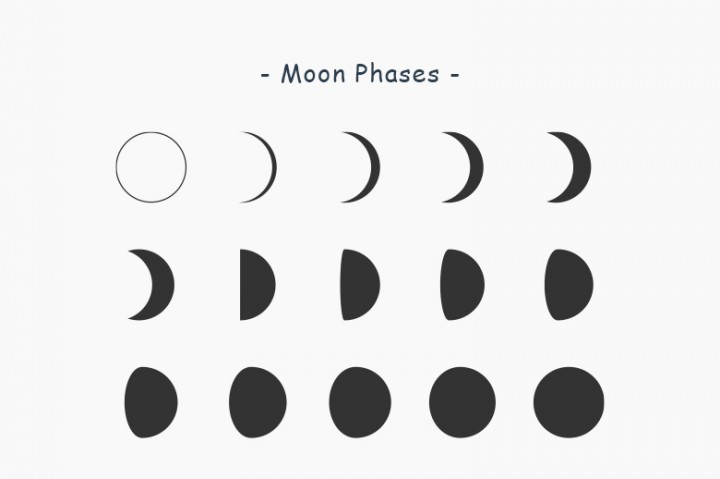 Moon clipart phase the moon #6