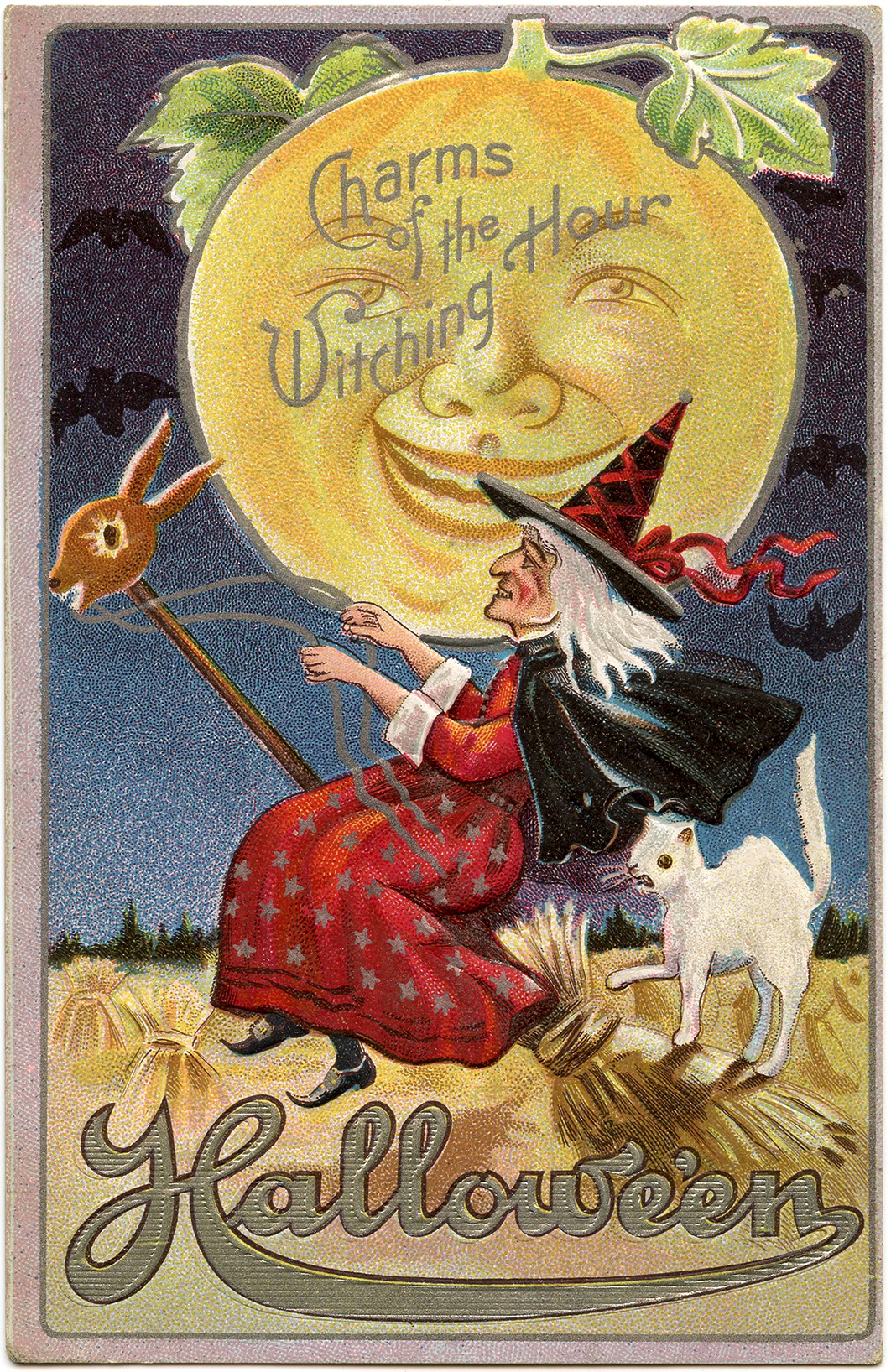 Moon clipart vintage halloween Moon Man Image Image with