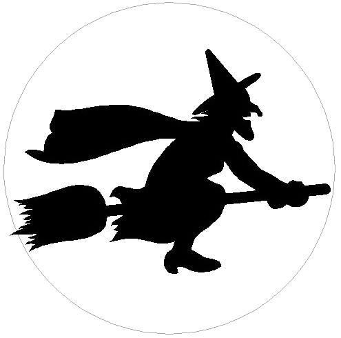 Moon clipart witch Witch Halloween Art Geographics Clip