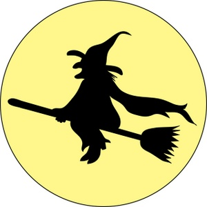 Witch clipart broom silhouette The On Download Clipart Moon