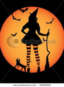 Moon clipart witch Silhouette In a In a