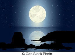 Moonlight clipart Moonlight and images Stock
