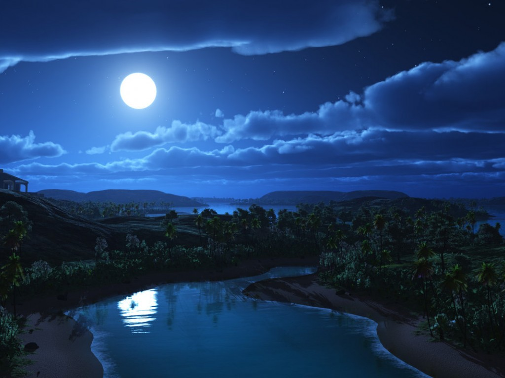 Moonlight clipart blue moon #7