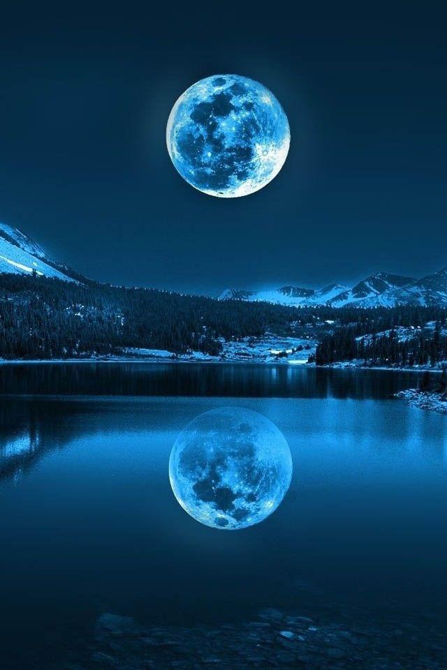 Moonlight clipart blue moon #4