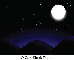Moonlight clipart full moon Mountains Moon shining full moon