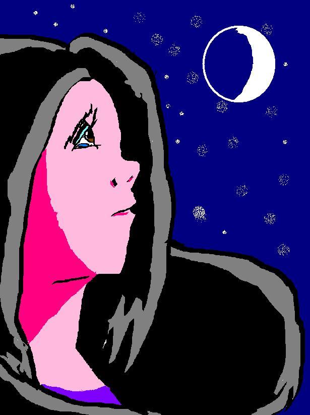 Moonlight clipart sad Sad Girl DeviantArt on In